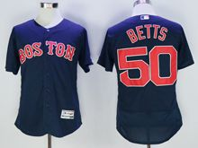 mens majestic boston red sox #50 mookle betts navy blue Flex Base jersey