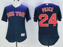 mens majestic boston red sox #24 david price navy blue Flex Base jersey