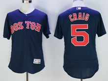mens majestic boston red sox #5 allen craig navy blue Flex Base jersey