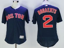 mens majestic boston red sox #2 xander bogaerts navy blue Flex Base jersey