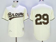 Mens Mlb Atlanta Braves #29 John Smoltz Cream White Throwbacks Jersey(no Name)