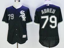 mens majestic chicago white sox #79 jose abreu black Flex Base jersey