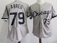 mens majestic chicago white sox #79 jose abreu gray Flex Base jersey