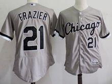 mens majestic chicago white sox #21 todd frazier gray Flex Base jersey