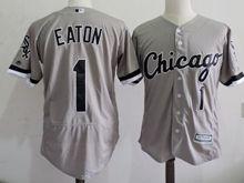 mens majestic chicago white sox #1 adam eaton gray Flex Base jersey