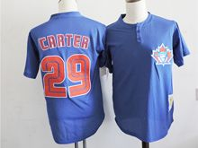 Mens Mlb Toronto Blue Jays #29 Joe Carter Blue Mesh Jersey