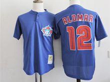 Mens Mlb Toronto Blue Jays #12 Roberto Alomar Blue Mesh Jersey