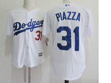 Mens Mlb Los Angeles Dodgers #31 Mike Piazza White Throwbacks Jersey(sn)