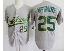 Mens Mlb Oakland Athletics #25 Mark Mcgwire Gray Jersey