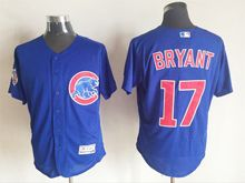 mens majestic chicago cubs #17 kris bryant blue Flex Base jersey