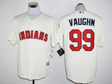 Mens Mlb Cleveland Indians #99 Ricky Vaughn Cream Jersey