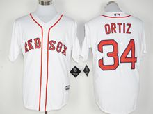 Mens Mlb Boston Red Sox #34 David Ortiz White (retirement Standard) Jersey