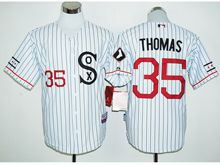 Mens Mlb Chicago White Sox #35 Frank Thomas White Stripe Player Jersey