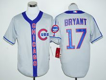 Mens Mlb Chicago Cubs #17 Kris Bryant Gray Jersey(new)