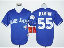 Mens Mlb Toronto Blue Jays #55 Russell Martin Blue (40th Anniversary Players Edition Standard) Jersey