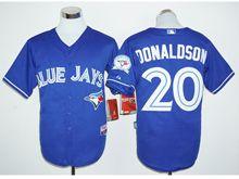 Mens Mlb Toronto Blue Jays #20 Josh Donaldson Blue (40th Anniversary Players Edition Standard) Jersey