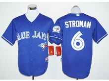 Mens Mlb Toronto Blue Jays #6 Marcus Stroman Blue (40th Anniversary Players Edition Standard) Jersey