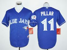 Mens Mlb Toronto Blue Jays #11 Kevin Pillar Blue (40th Anniversary Players Edition Standard) Jersey