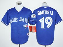 Mens Mlb Toronto Blue Jays #19 Jose Bautista Blue (40th Anniversary Players Edition Standard) Jersey