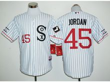 Mens Mlb Chicago White Sox #45 Michael Jordan White Stripe Player Jersey