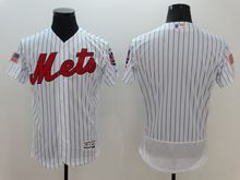 mens majestic new york mets blank white stripe fashion stars stripes Flex Base jersey
