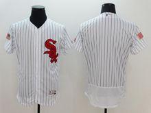 mens majestic chicago white sox blank white stripe fashion stars stripes Flex Base jersey