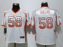 Women  Nfl Denver Broncos #58 Von Miller White Drift Fashion Elite Jersey