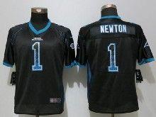 Women  Nfl Carolina Panthers #1 Cam Newton Black Drift Fashion Elite Jerseys