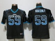 Women  Nfl Carolina Panthers #59 Luke Kuechly Black Drift Fashion Elite Jerseys