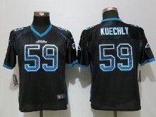 Women  Nfl Carolina Panthers #59 Luke Kuechly Black Drift Fashion Elite Jerseys