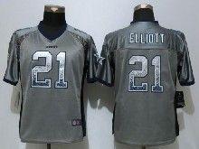 Women  Nfl Dallas Cowboys #21 Ezekiel Elliott Gray Drift Fashion Elite Jerseys
