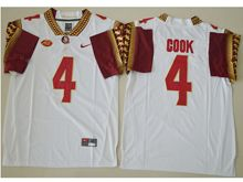 Mens Ncaa Nfl Florida State Seminoles #4 Dalvin Cook White 4 College Jersey