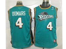 Mens Nba Detroit Pistons #4 Joe Dumars Green Mesh Jersey