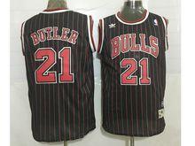 Mens Nba Chicago Bulls #21 Jimmy Butler Black (red Stripe) Revolution 30 Mesh Jersey(sn)