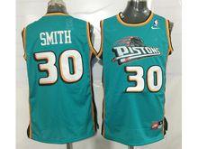 Mens Nba Detroit Pistons #30 Josh Smith Green Mesh Jersey