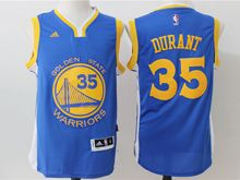 Mens Adidas Golden State Warriors #35 Kevin Durant Royal Blue Player Swingman Road Jersey
