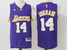 Mens Nba Los Angeles Lakers #14 Brandon Ingram Blue New Jersey