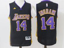 Mens Nba Los Angeles Lakers #14 Brandon Ingram Black New Jersey