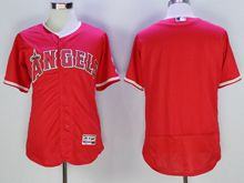 mens majestic los angeles angels blank red Flex Base jersey