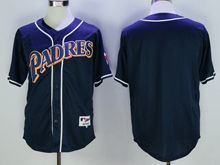 Mens Mlb San Diego Padres Blank Navy Blue Throwbacks Jersey