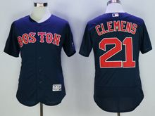 mens majestic boston red sox #21 roger clemens navy blue Flex Base jersey