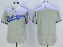 mens majestic los angeles dodgers blank gray throwbacks Flex Base jersey