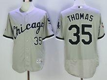 mens majestic chicago white sox #35 frank thomas gray Flex Base (2005world cup mark) jersey