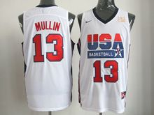 Mens Nba 1 Dream Team #13 Mullin White Mesh Jersey