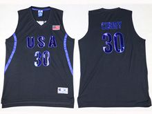Mens Nba 12 Dream Teams #30 Curry Black Jersey