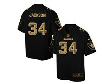 Mens Nfl Oakland Raiders #34 Bo Jackson Pro Line Black Gold Collection Jersey