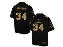 Mens Nfl Oakland Raiders #34 Bo Jackson Pro Line Black Gold Collection Jersey