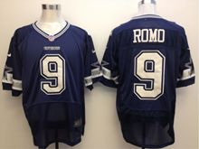Mens Nfl Dallas Cowboys #9 Tony Romo Blue Elite Jersey