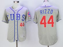 mens majestic chicago cubs #44 anthony rizzo gray Flex Base jersey(cubs)