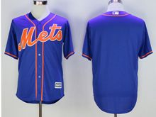 Mens Mlb New York Mets Blank Blue Cool Base Jersey